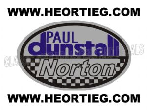 Paul Dunstall Norton Tank and Fairing Transfer Decal D20084-4